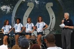 2008 BBQ Ribfest: Colts Cheerleaders with Bob Chase