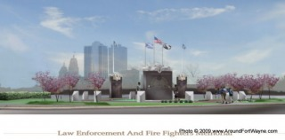 The Law Enforcement Fire Fighters Memorial of Allen County