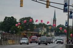 Pink Balloons mark the way