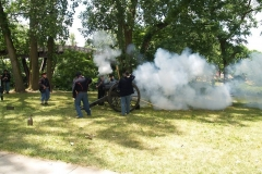 Firing the reproduction 19th century cannon