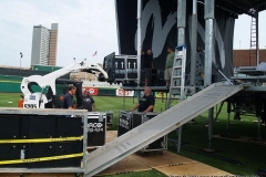 Mercy Me Concert set up
