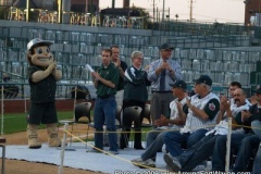Johnny and the dignitaries applaud the TinCaps