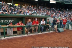 TinCaps staff and Councilman Tom Didier