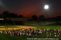 Sunset over Parkview Field
