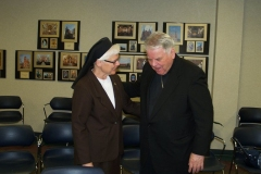 Sister Elise Kriss and Bishop D'Arcy