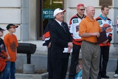 Mayor Tom Henry and Komets Coach Al Sims