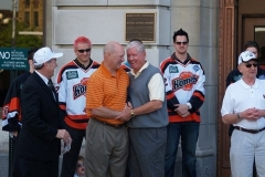 Komets Coach Al Sims and Hall of Famer Len Thornson