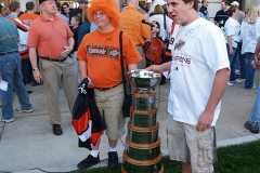 Two fans with the Turner Cup