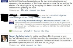 2010/10/30: Facebook screen capture of campaign musings