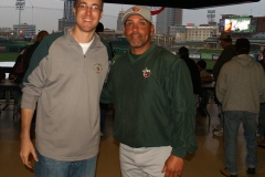 TinCaps President Mike Nutter and Manager Jose Flores