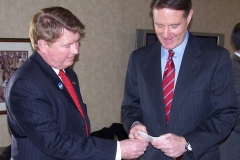 Geoff Paddock and US Senator Evan Bayh