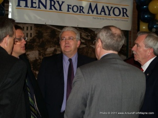 Tim Pape and Mayor Tom Henry