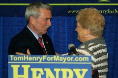 Mayor Tom Henry and Sandy Kennedy