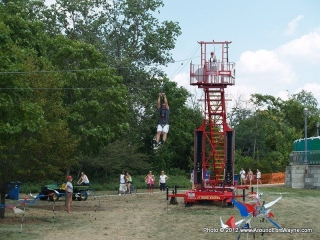 2012/07/15: Zip lining at the Three Rivers Festival Midway