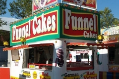 German Chocolate Funnel Cake stand