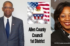 Candidates Kevin Howell and Sharon Tucker
