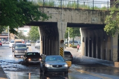 2015/08/10: Broadway underpass flooded