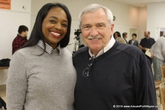 City Clerk-elect Michelle Chambers and Mayor Tom Henry