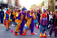A gaggle of zombie clowns
