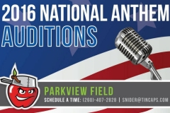 TinCaps National Anthem Tryouts