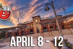 TinCaps Homestand: April 8th to 12th.