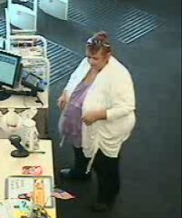 Theft and unauthorized use of a stolen credit card investigation suspect