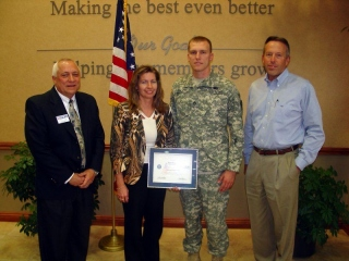 Presentation of the Patriot Award at Do it Best Corp.