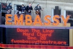 Built for Blame on the marquee of the Embassy Theatre