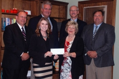 First Farmers check presentation
