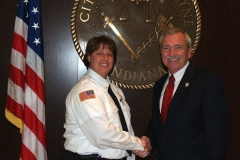 2012/06/13: Newly appointed FWFD Chief Amy Biggs and Mayor Tom Henry