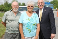 Chuck and Heidy Kiess with Mayor Henry
