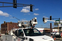 Fairfield and Main traffic signals