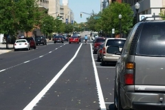 Bike lane on Wayne Street