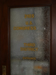 Indiana 3rd Congressional District office door