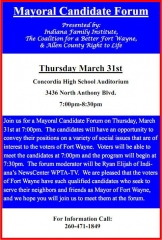 Mayoral Candidate Forum