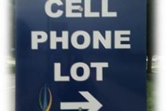 Cell phone lot sign