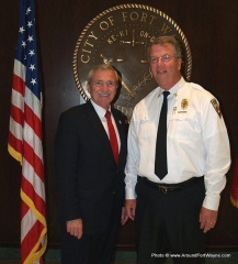 Mayor Tom Henry and Chief Pete Kelly