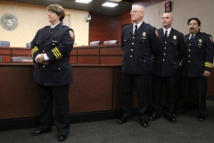 2012/07/02: Fire Chief Amy Biggs, Eric Lahey, ?, and James Murua