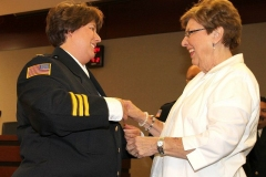 2012/07/02: Fire Chief Amy Biggs and Shirley Biggs