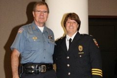 2012/07/02: Police Chief Rusty York and Fire Chief Amy Biggs