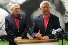 Mayor Tom Henry and Steve Corona