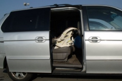 Infant inside vehicle