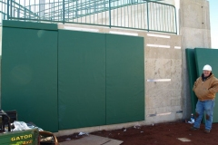 2009/02/12: Outfield padding installation