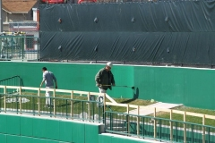 2009/04/11: Painting the centerfield wall