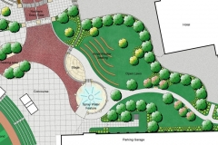 Plan view for the Robert E. Meyers Park