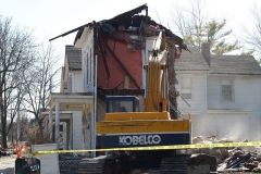 2009/03/03: 1120 Ewing Street, partially demolished