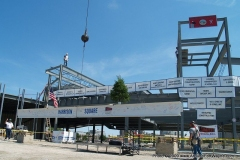 2009/07/01: Lifting the final beam into place