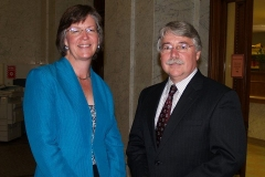 Indiana Attorney General Greg Zoeller and Therese Brown