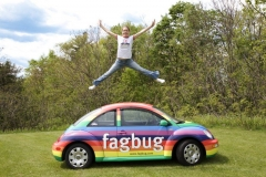 "Erin Davies and her ""fagbug"""