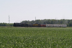 2012/07/11: The NKP 765 south of Yoder Indiana